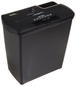 AMAZON BASICS 8-SHEET STRIP-CUT PAPER, CD AND CREDIT CARD SHREDDER