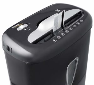 AmazonBasics 6-Sheet High-Security Micro-Cut Paper and Credit Card Home Office Shredder